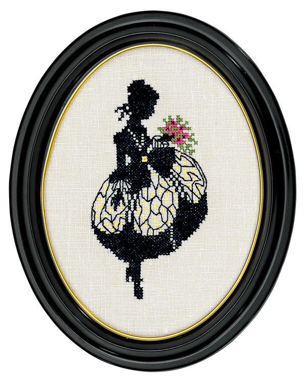 Bild Damensilhouette mit Strauß