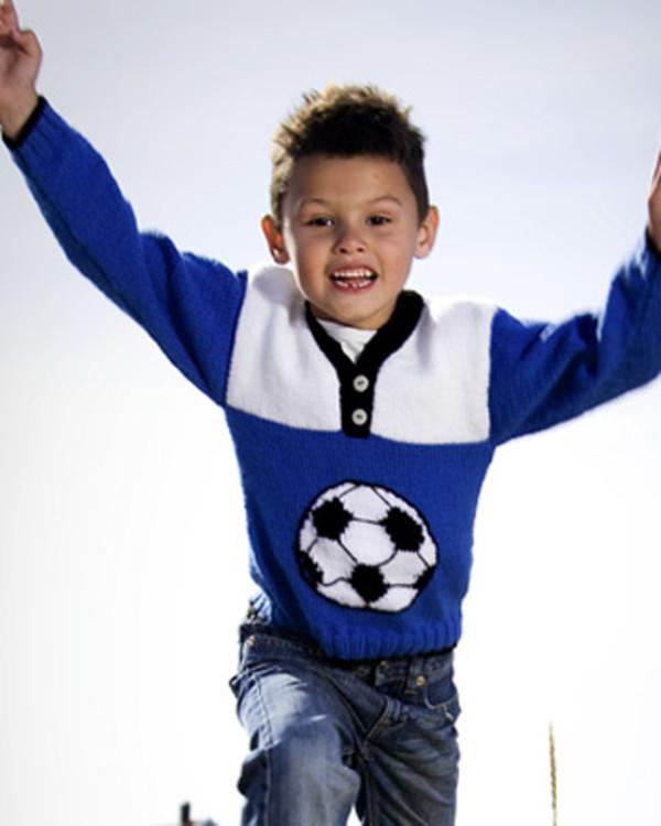 Strikkeoppskrift Fotballgenser