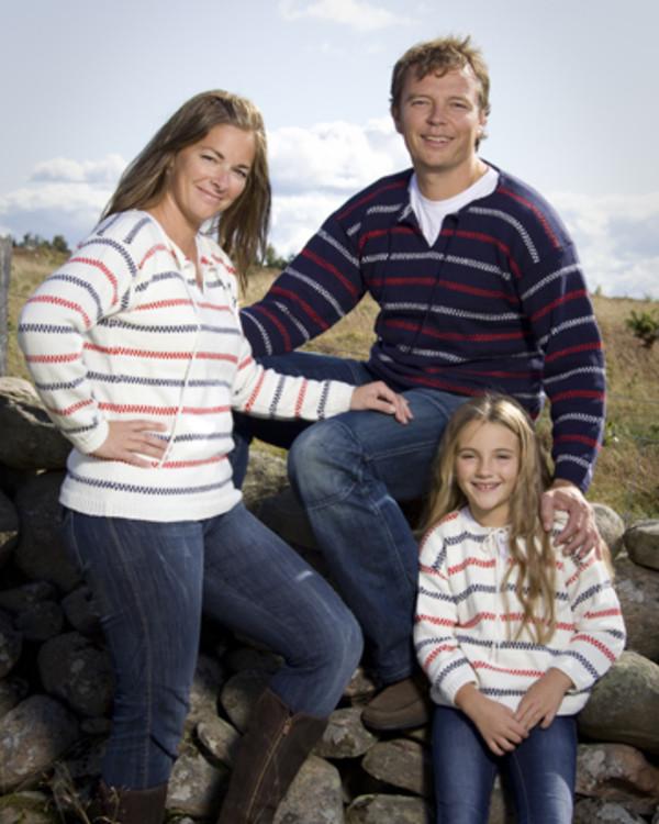Pippi mönstrad tröja Familj