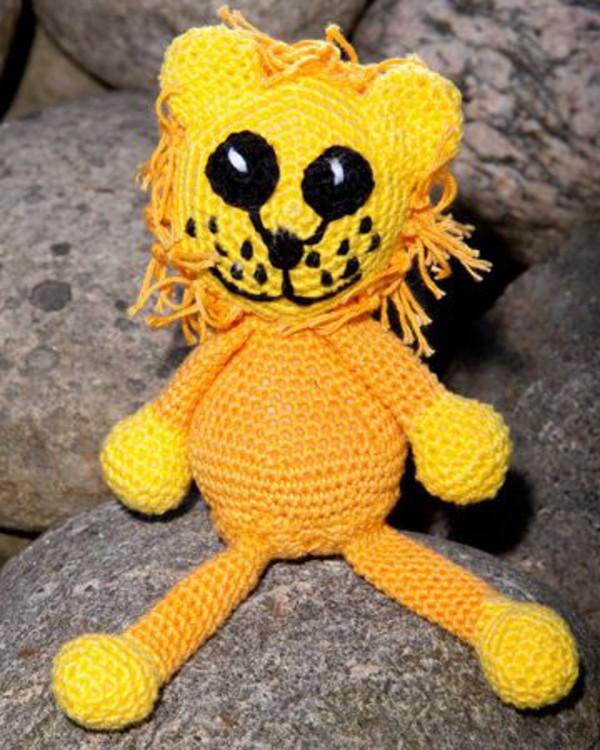 Hekleoppskrift Løve