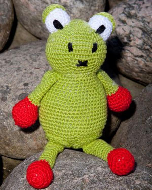 Hekleoppskrift Frosk