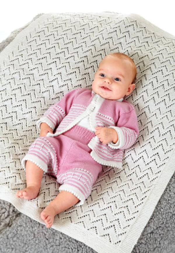 Vauvan pusero, neuletakki ja housut
