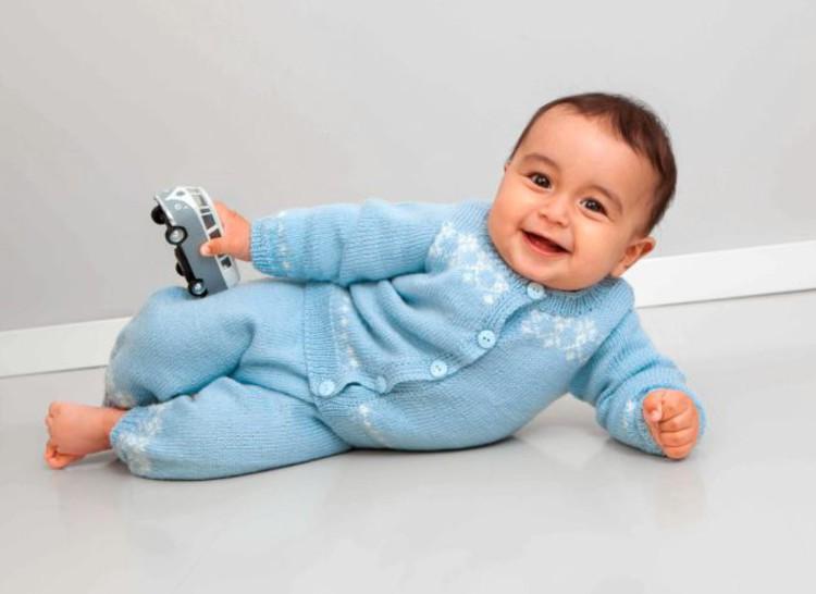 Babyset blå