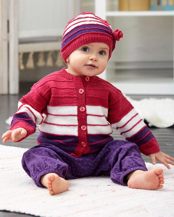 Babykofte og lue
