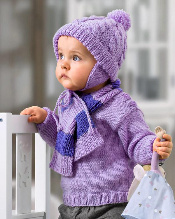 Babyset - mössa och halsduk