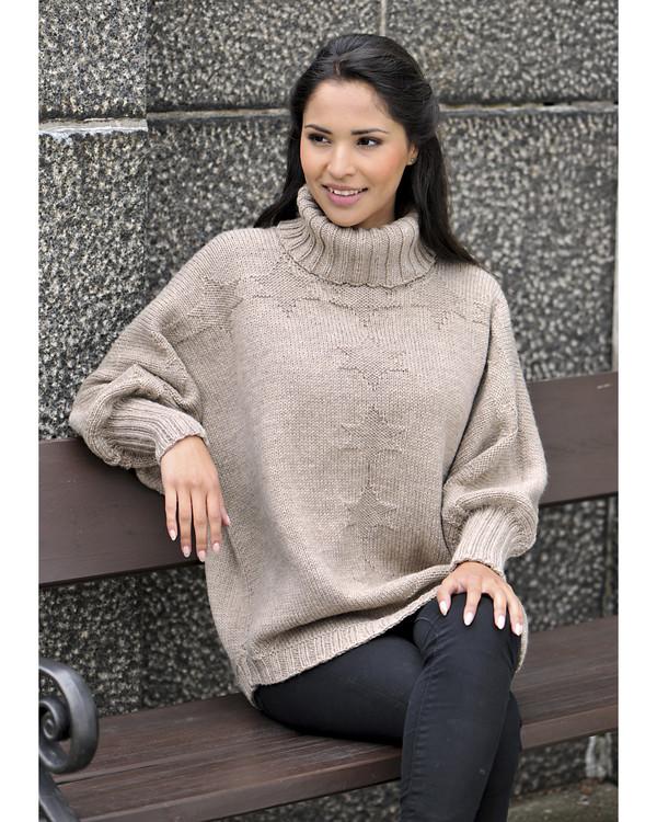 Sweater med store ærmer