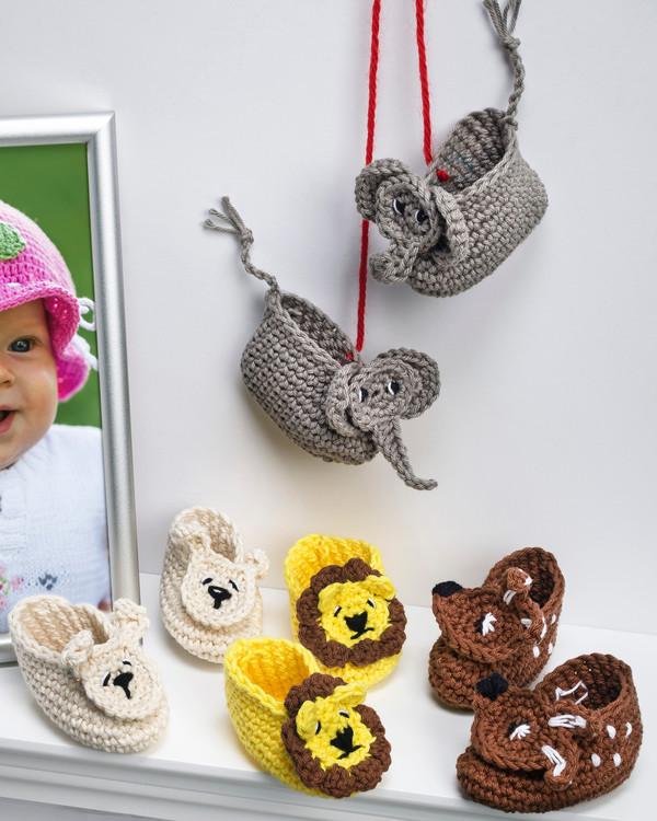 Babytøfler med dyreansigter