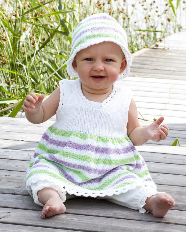 Babykjole og hue