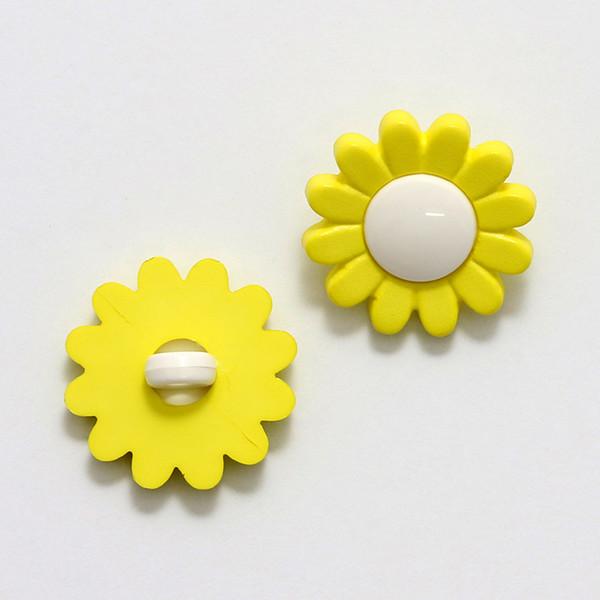 Nappi Daisy 17 mm keltainen/valkoinen