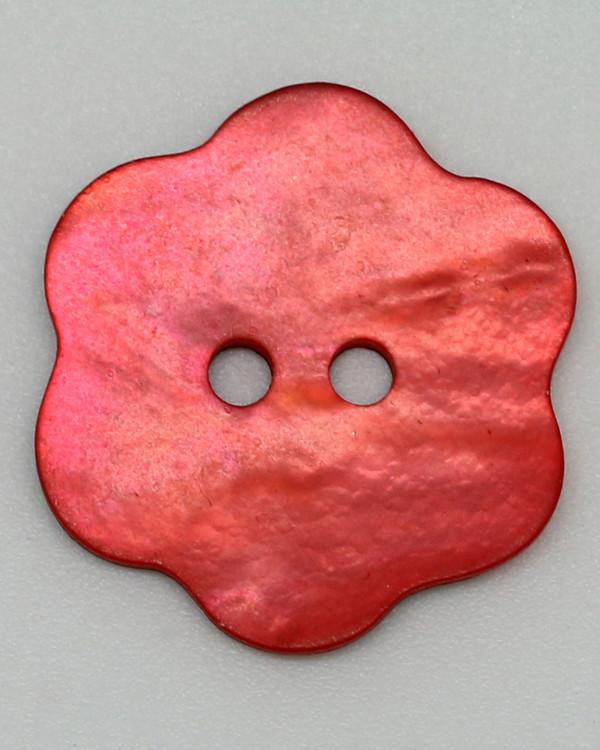 Knapp Blomst Perlemor rosarød