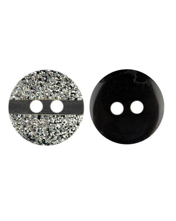 Nappi hopea/musta 12 mm