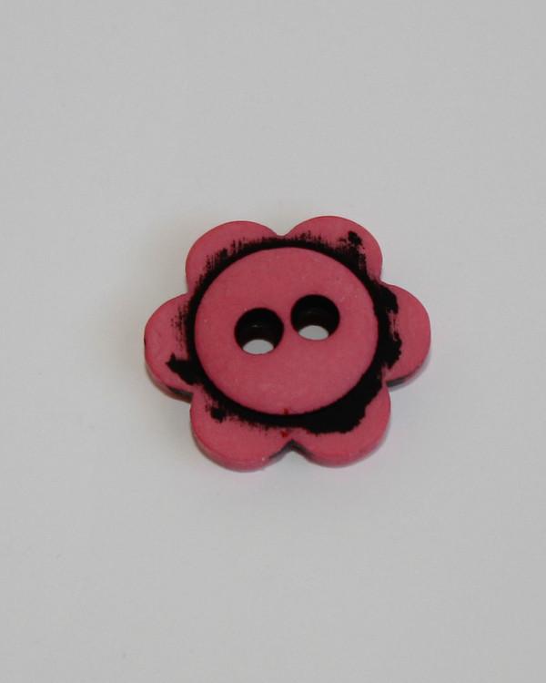 Nappi Kukka roosa 14 mm