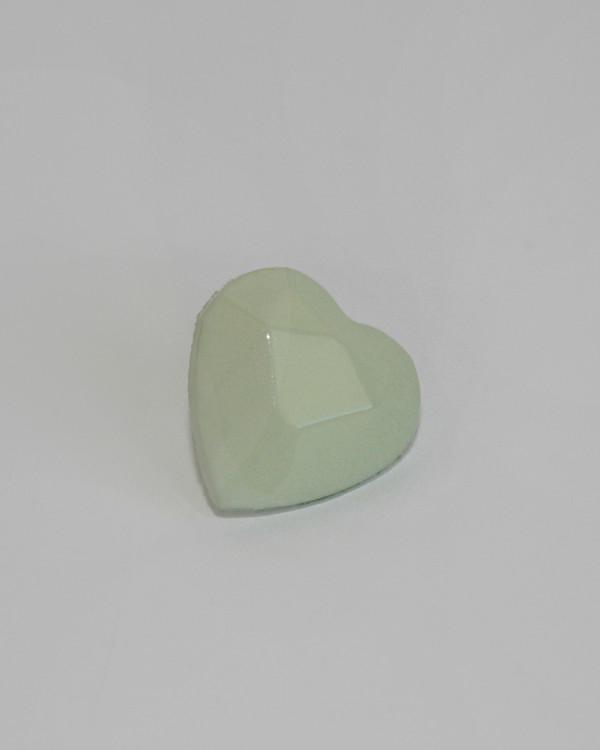 Knapp Hjärta lj grön13 mm