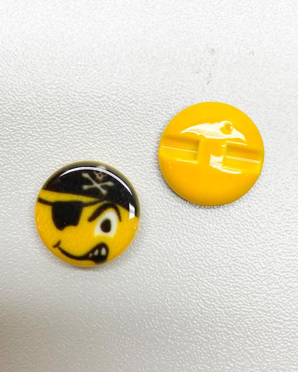 Knapp Emoji Pirat 15 mm