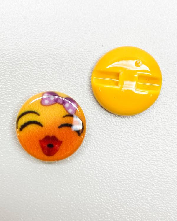 Knapp Emoji Pussmun 15 mm