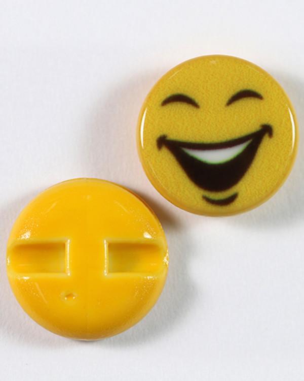 Knapp Emoji Lycklig 15 mm