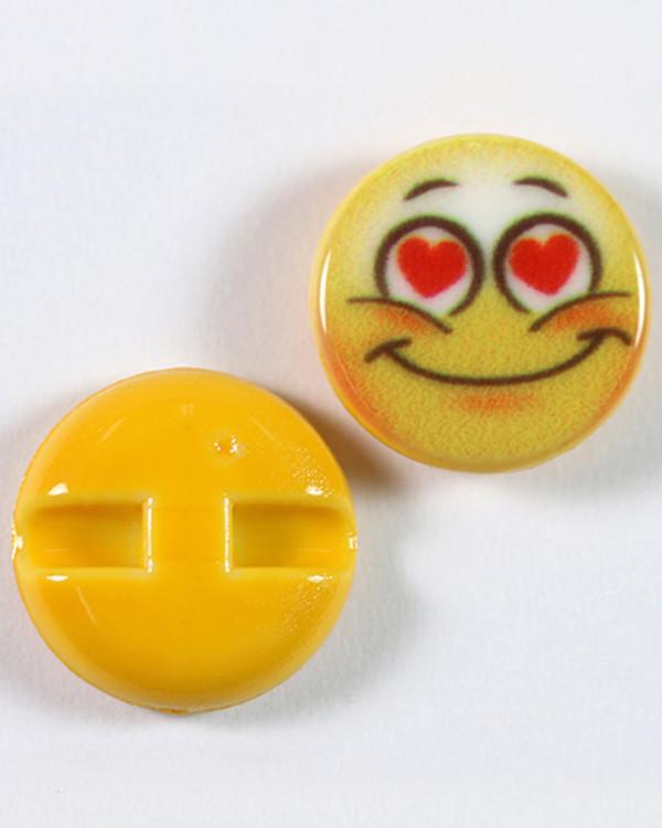 Knapp Emoji Forelsket 15 mm