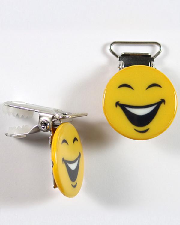 Klips Emoji Lykkelig 18 mm