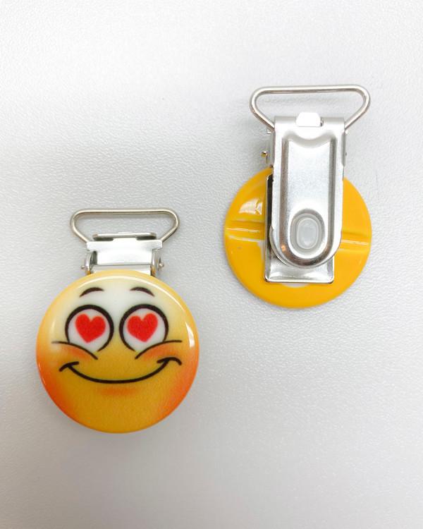 Clips Emoji Forelsket 18 mm