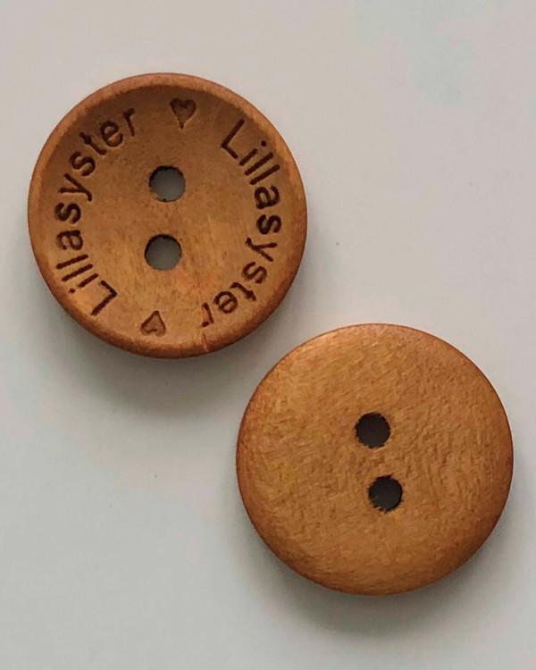 Träknapp Lillasyster 18 mm
