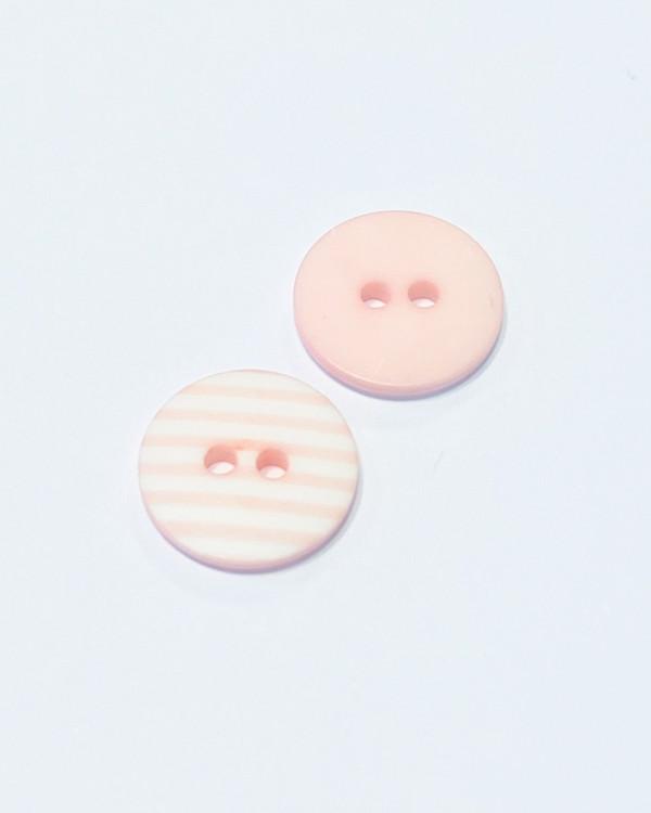 Knapp rand rosa 12 mm