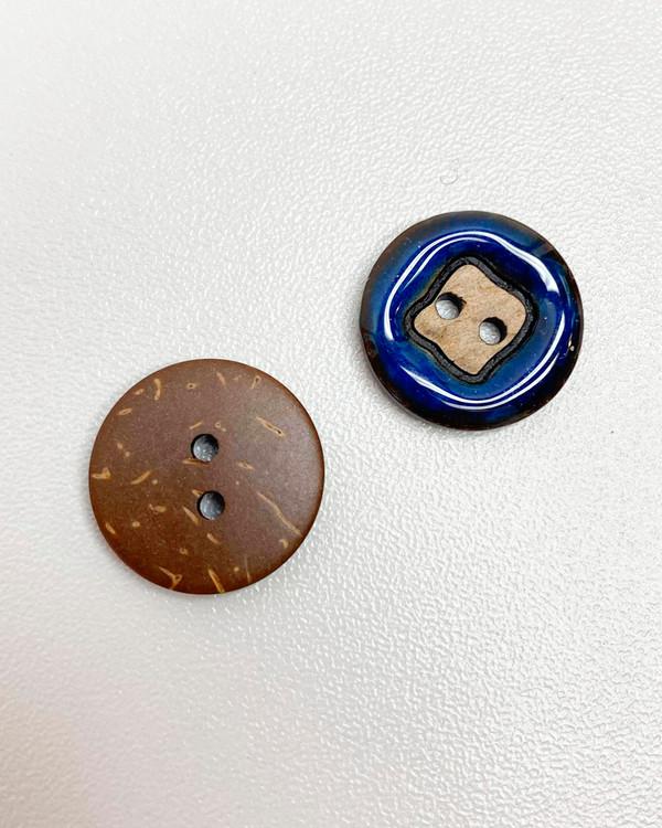 Knapp 18 mm blå