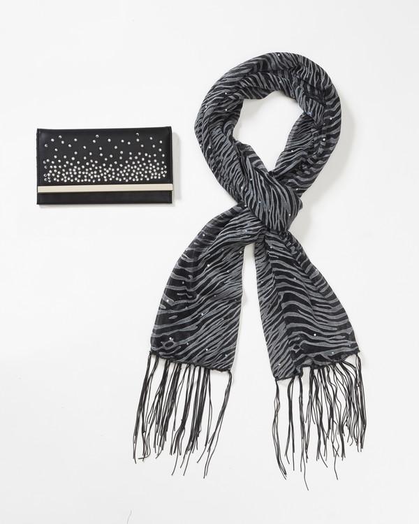 Plånbok och sjal