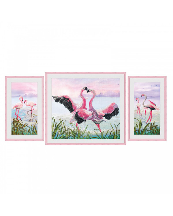 Bilde Dansende flamingoer