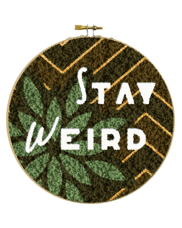 Punch needle pakke Stay weird