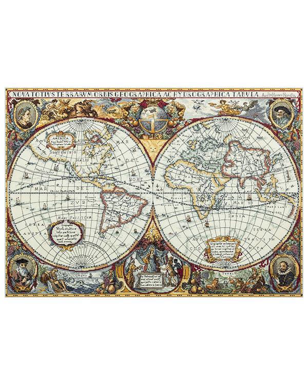 Broderikit Tavla Världskarta