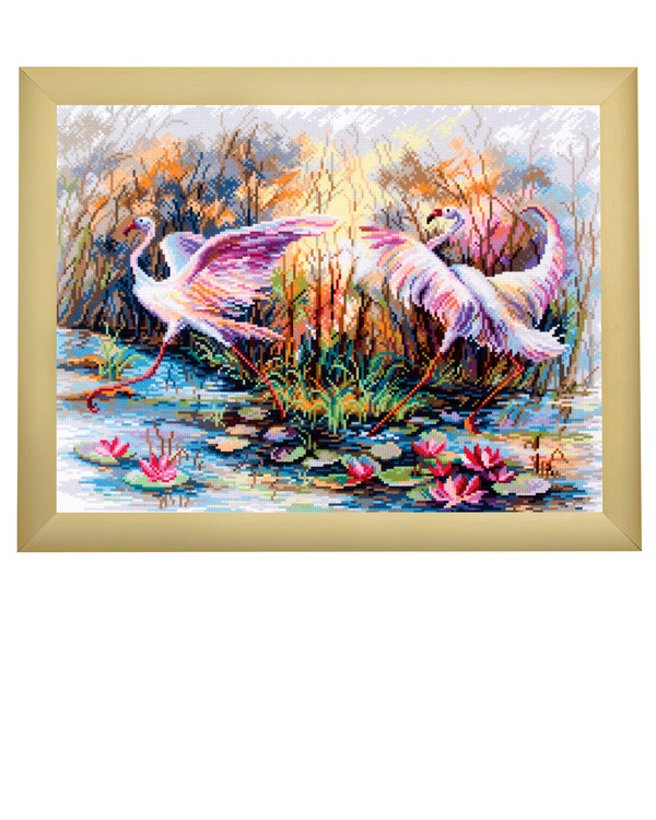 Broderipakke Bilde Dansende flamingoer