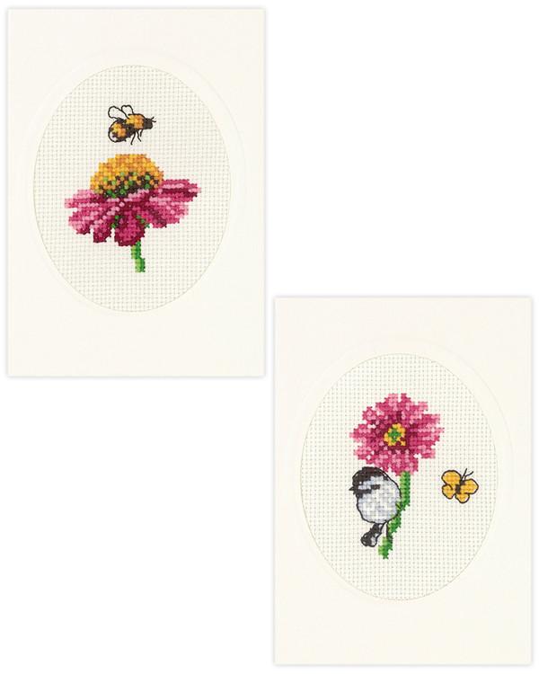 Karten Blumen 2-er Pack