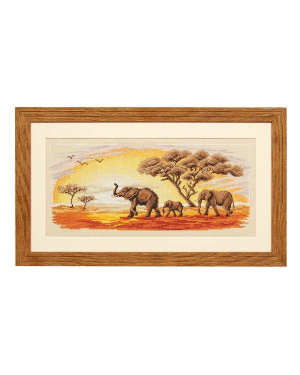 Broderikit Tavla På savannen