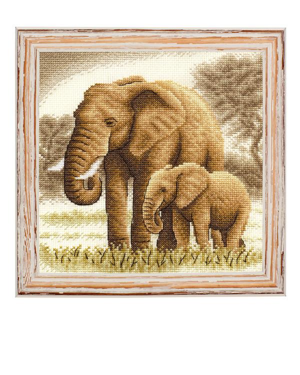 Broderikit Tavla Elefanter