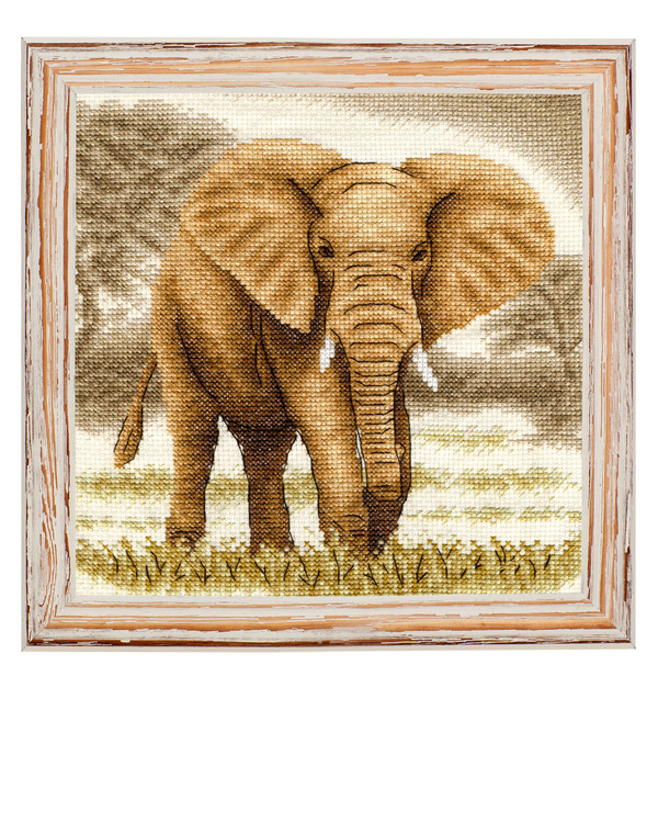 Broderikit Tavla Elefanten