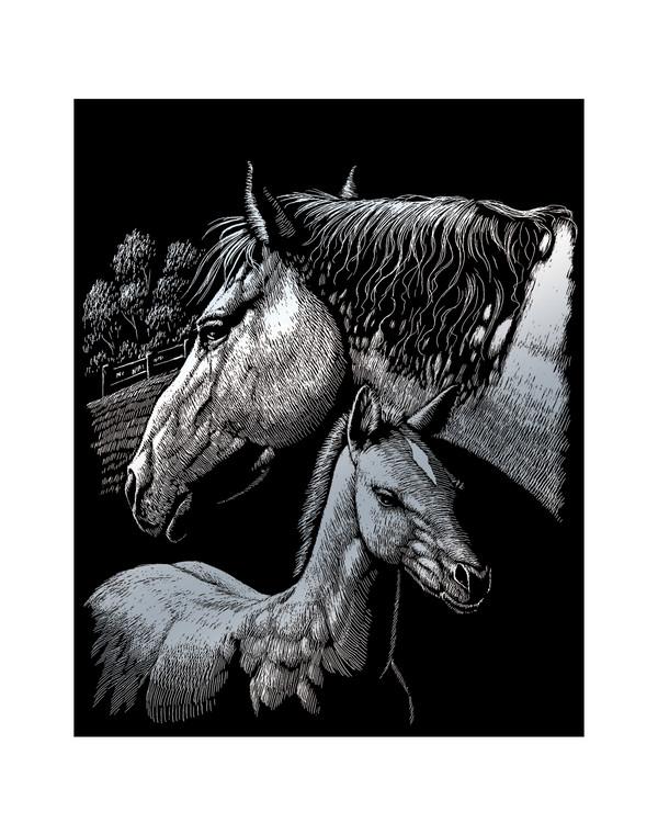 Skrapekunst Hester