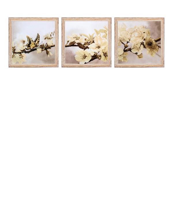 Broderipakke Bilde Blomstrende 3 deler