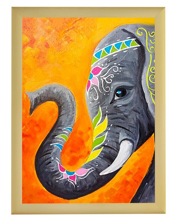 Diamond painting Elefant