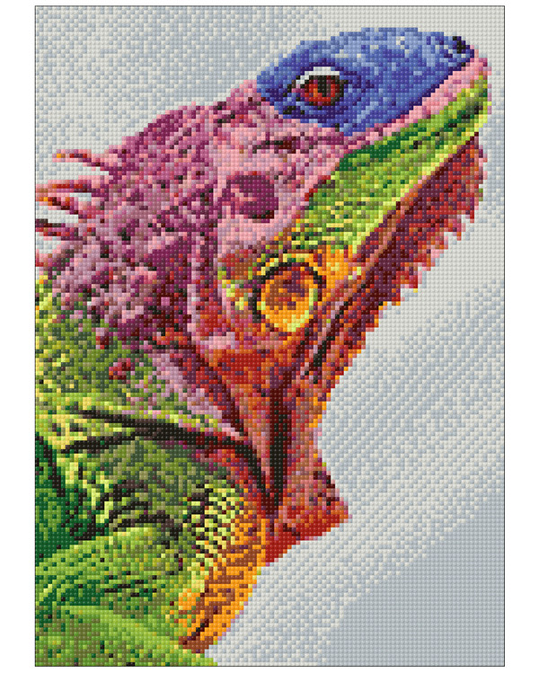 Diamond painting Leguan