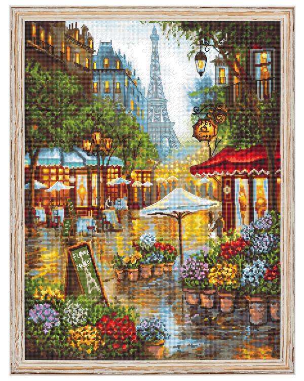 Broderikit Tavla Vårblomster i Paris