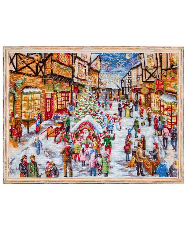 Stickpackung Bild Weihnachtsstraße
