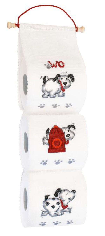 Broderipakke Toalettrullholder Hundemotiv