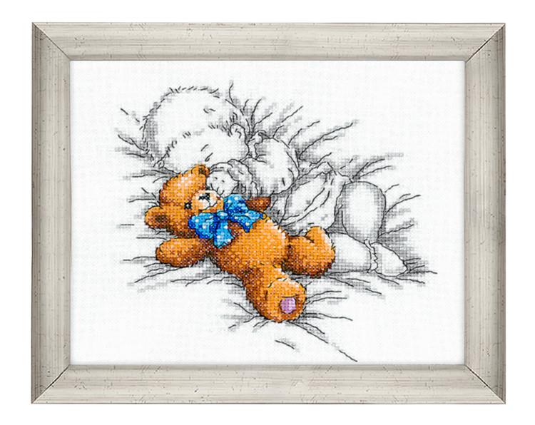 Bild Baby mit Teddy