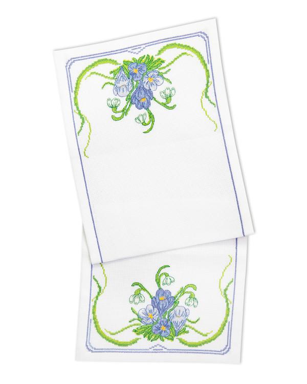 Kirjontapakkaus Kaitaliina Sininen kukka