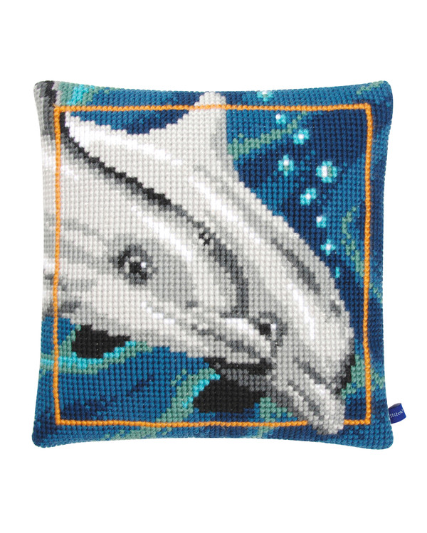 Broderikit Kudde Delfiner