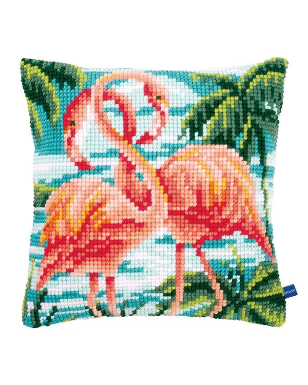 Broderipakke Pute Flamingoer