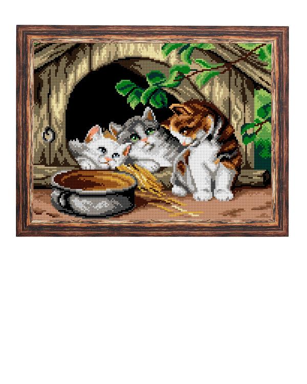 Kanavatyö Kolme pientä kissaa