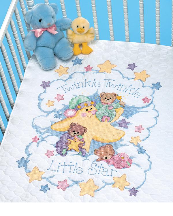 Broderikit Babytäcke Lilla stjärna
