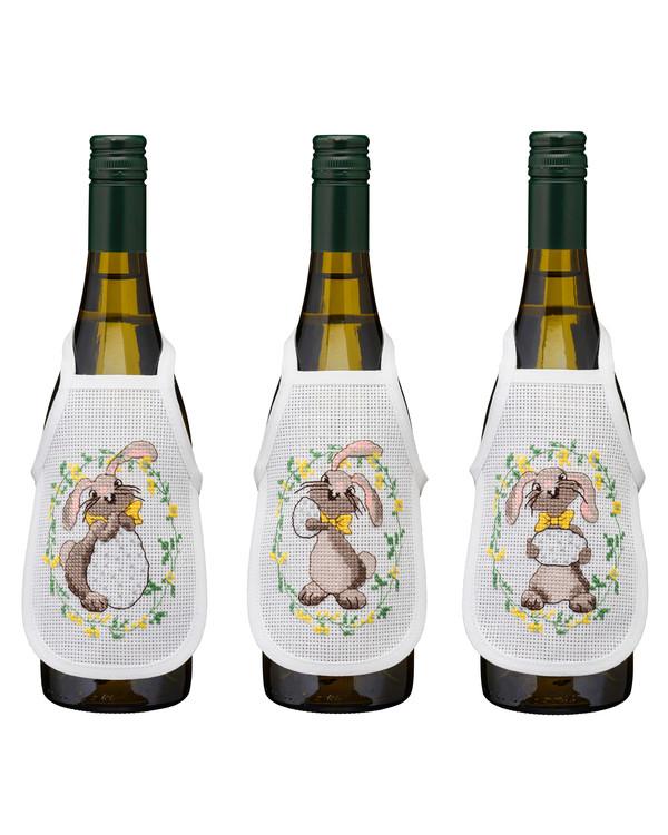 Broderikit Flaskeforklæder Kaniner