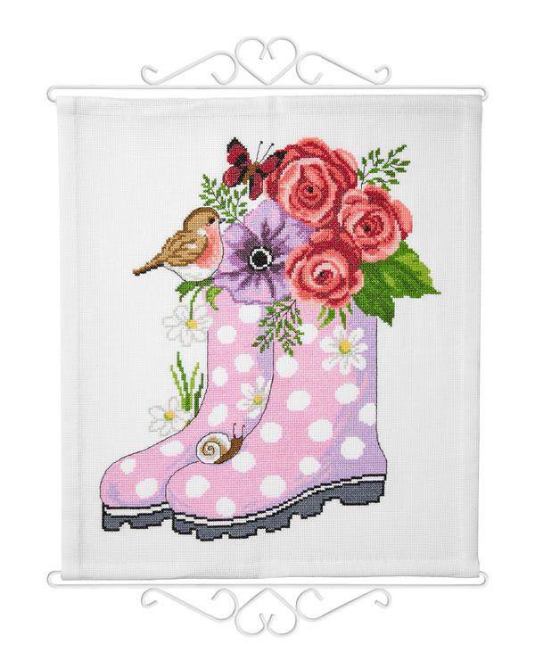 Broderipakke Veggteppe Rosa støvler